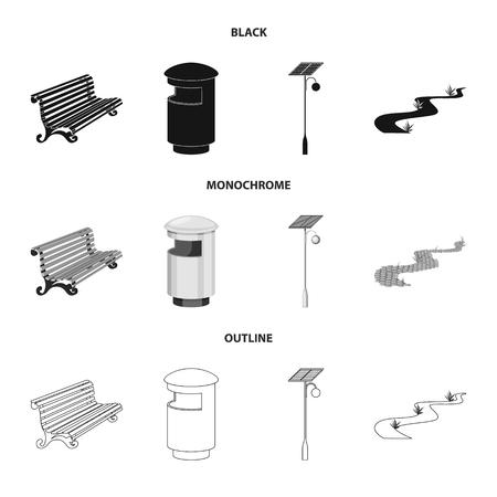 Vector illustration of urban and street icon. Collection of urban and relaxation vector icon for stock. Illustration