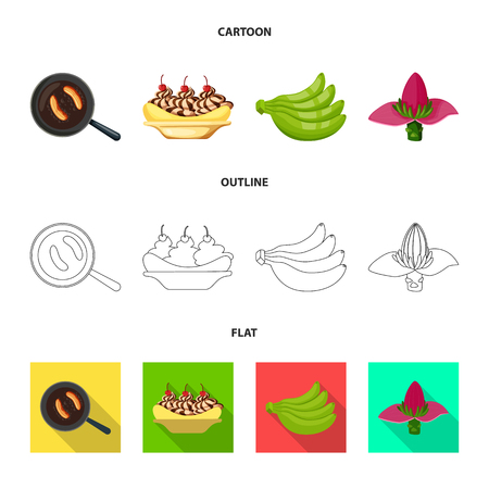 Vector design of natural and vegetarian logo. Collection of natural and eating stock symbol for web.