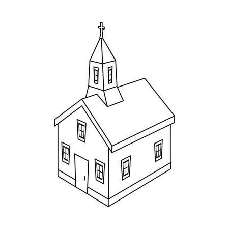 Vector illustration of church and christian symbol. Set of church and steeple stock vector illustration.