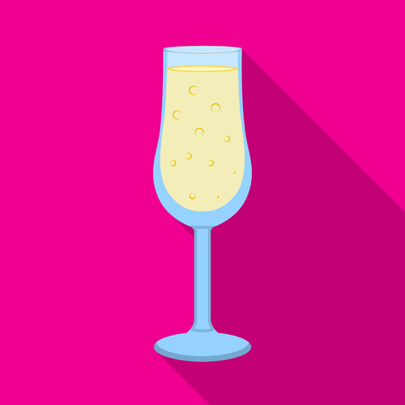 Vector design of champagne and glass icon. Set of champagne and transparent stock symbol for web. Illustration