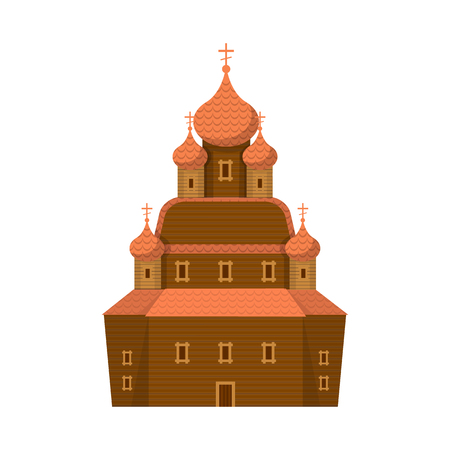 Vector design of church and orthodox icon. Set of church and construction stock vector illustration. Çizim