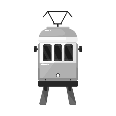 Vector illustration of tram and lisbon symbol. Set of tram and railway vector icon for stock. Zdjęcie Seryjne - 122861078