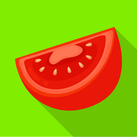 Isolated object of half and tomato logo. Set of half and slice vector icon for stock. Logo
