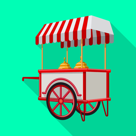 Vector illustration of cart and mobile symbol. Collection of cart and entertainment stock symbol for web.
