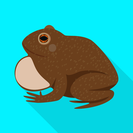 Isolated object of toad and biology logo. Collection of toad and brown stock symbol for web.