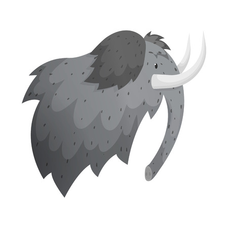 Isolated object of mammoth and wooly sign. Set of mammoth and hunt stock symbol for web. Zdjęcie Seryjne - 122861103