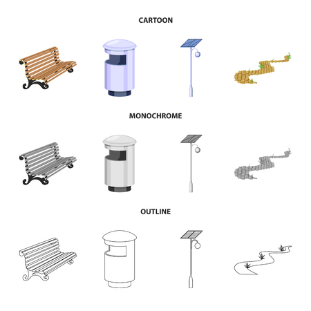 Isolated object of urban and street icon. Collection of urban and relaxation vector icon for stock. Çizim
