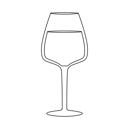Vector design of wine and glass sign. Set of wine and tasting vector icon for stock. Ilustração Vetorial