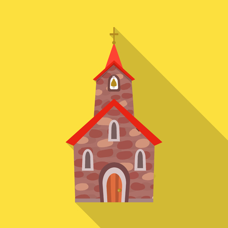 Isolated object of church and catholic icon. Collection of church and spiritual stock vector illustration.
