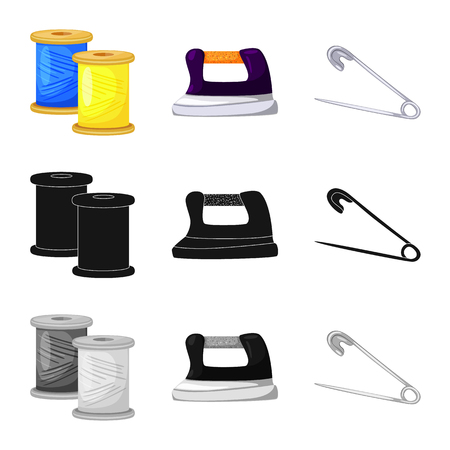 Vector design of craft and handcraft icon. Set of craft and industry vector icon for stock.