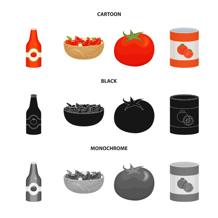 Vector design of vegetable and delicious icon. Collection of vegetable and natural stock symbol for web. Ilustração
