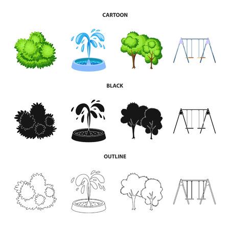 Vector illustration of urban and street symbol. Set of urban and relaxation vector icon for stock.