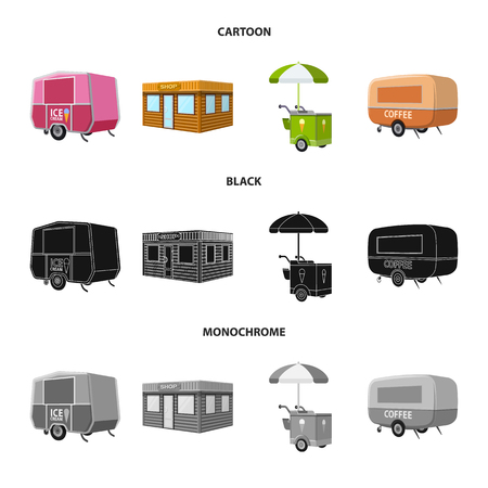 Vector illustration of marketing and tent sign. Set of marketing and outdoor vector icon for stock. Ilustrace