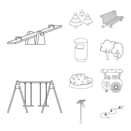 Isolated object of landscape and nature sign. Collection of landscape and city vector icon for stock.