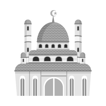 Vector illustration of mosque and church symbol. Set of mosque and muslim stock symbol for web.