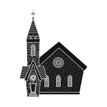 Vector design of church and catholic logo. Set of church and easter vector icon for stock. 向量圖像