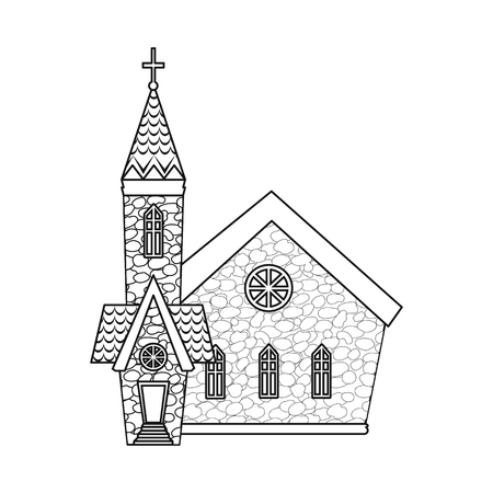 Vector design of church and catholic symbol. Set of church and easter vector icon for stock.