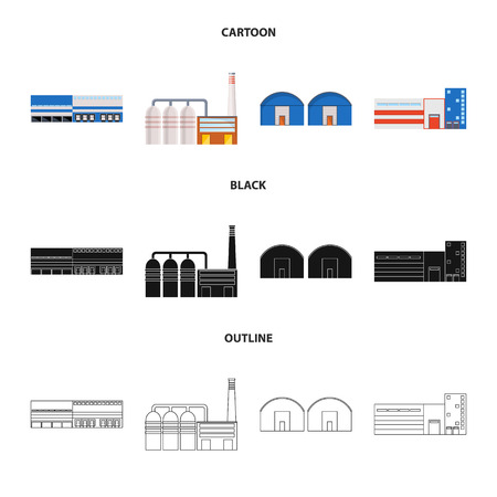 Vector design of production and structure logo. Collection of production and technology stock vector illustration.
