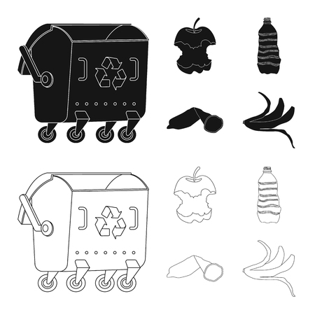 Isolated object of dump  and sort sign. Set of dump  and junk vector icon for stock. Banque d'images - 121879114