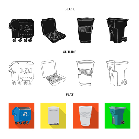 Isolated object of dump  and sort symbol. Set of dump  and junk stock vector illustration. Ilustracja