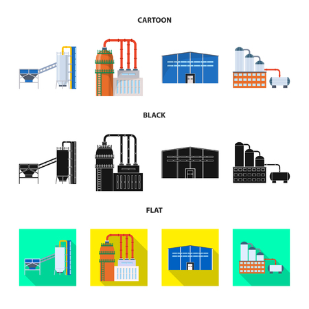 Isolated object of production and structure symbol. Collection of production and technology stock vector illustration.