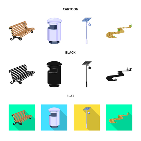 Vector design of urban and street. Set of urban and relaxation stock symbol for web. Illustration