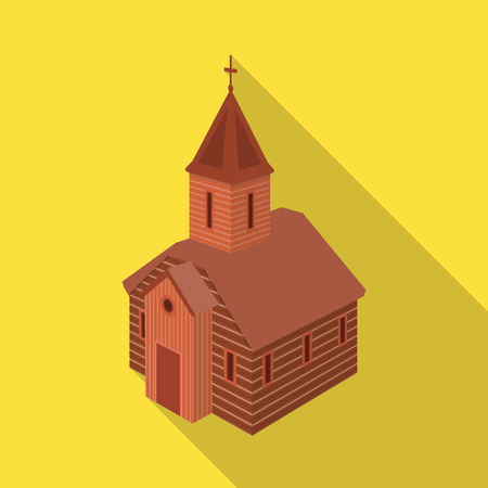 Isolated object of church and orthodox symbol. Set of church and chapel vector icon for stock.