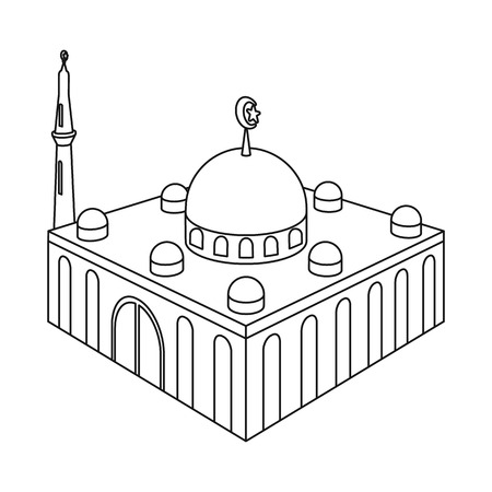 Isolated object of mosque and islam icon. Collection of mosque and muslim stock symbol for web.