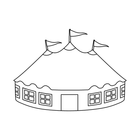Isolated object of tent and dome icon. Collection of tent and recreation stock symbol for web.