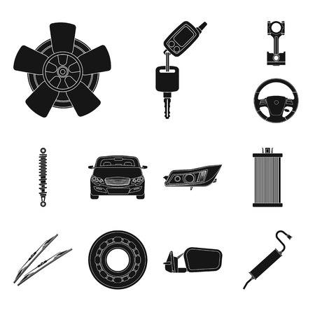 Isolated object of auto and part symbol. Collection of auto and car stock vector illustration.