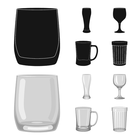 Isolated object of form and celebration sign. Collection of form and volume vector icon for stock. Ilustrace