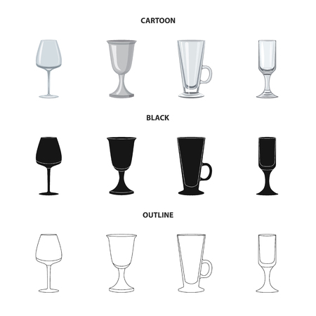 Vector illustration of form and celebration sign. Set of form and volume stock symbol for web.