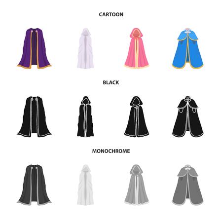 Objet isolé du symbole matériel et vêtement. Ensemble d'illustration vectorielle stock matériel et vêtement.