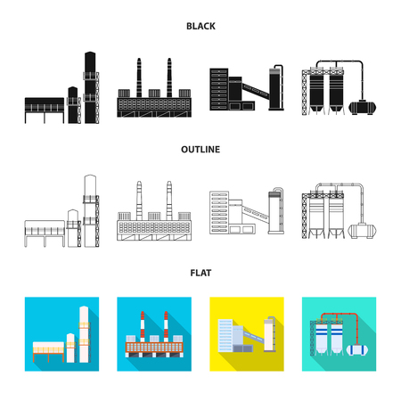 Vector design of production and structure logo. Set of production and technology vector icon for stock.  イラスト・ベクター素材