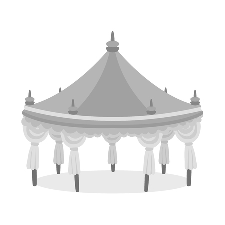 Isolated object of tent and simple sign. Collection of tent and event stock symbol for web. Ilustrace