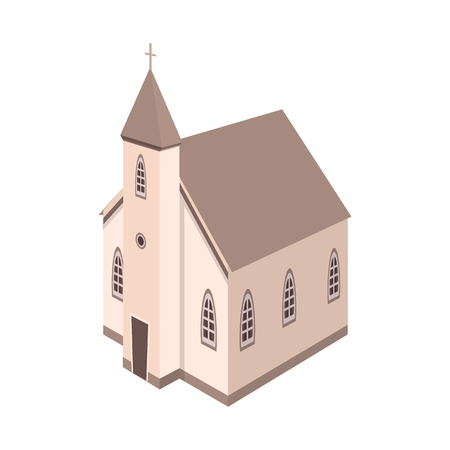 Isolated object of church and catholic icon. Set of church and steeple stock symbol for web.
