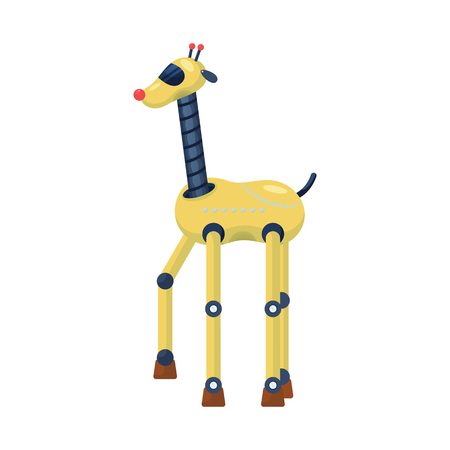 Isolated object of giraffe and animal symbol. Set of giraffe and africa vector icon for stock.