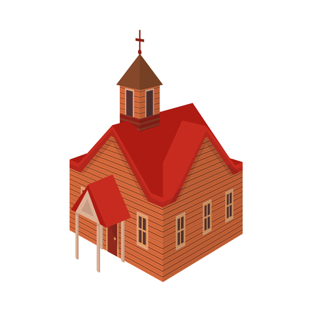 Isolated object of church and house icon. Collection of church and old stock symbol for web. Archivio Fotografico - 122553341