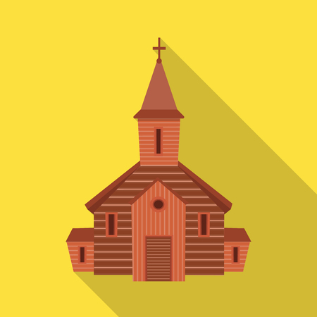 Isolated object of church and orthodox sign. Collection of church and bible stock symbol for web. Ilustração