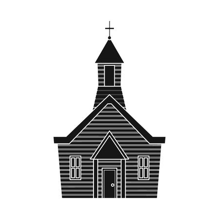 Vector design of church and christian icon. Collection of church and bible vector icon for stock.