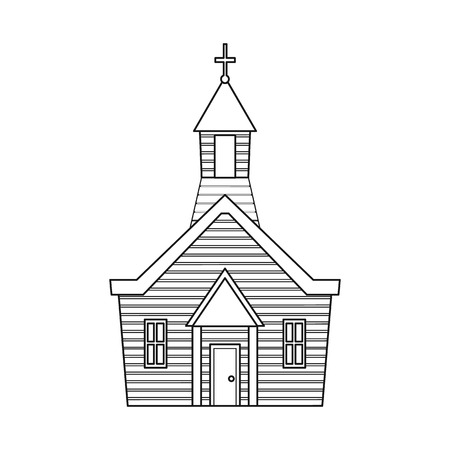 Isolated object of church and christian logo. Collection of church and bible stock vector illustration.
