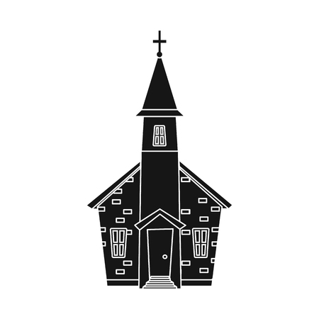 Isolated object of church and orthodox icon. Collection of church and pray stock symbol for web.
