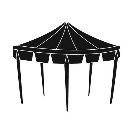 Vector illustration of canopy and tent icon. Set of canopy and cover stock vector illustration.