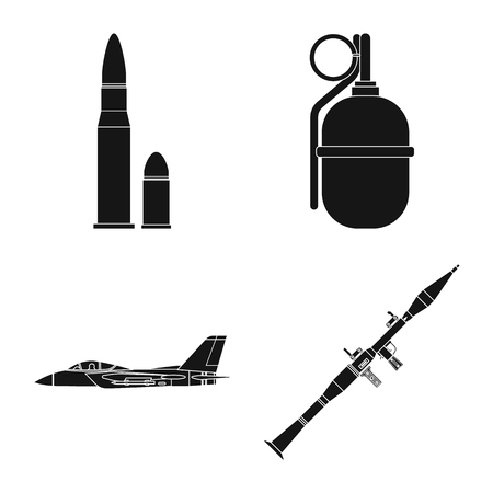 Vector design of weapon and gun logo. Set of weapon and army vector icon for stock.