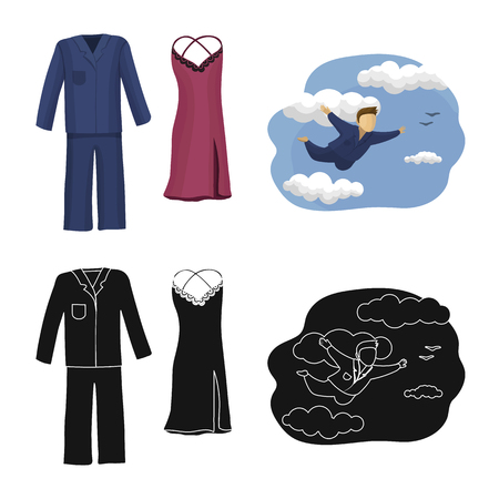 Vector design of dreams and night logo. Collection of dreams and bedroom vector icon for stock. Illustration