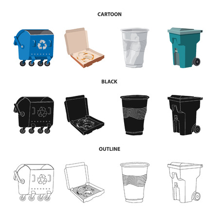 Isolated object of dump  and sort sign. Collection of dump  and junk stock vector illustration. Stock Illustratie