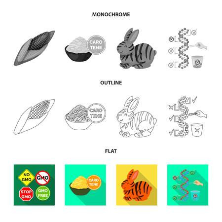 Vector illustration of test and synthetic sign. Set of test and laboratory vector icon for stock.