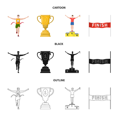 Vector illustration of sport  and winner logo. Collection of sport  and fitness  stock vector illustration.