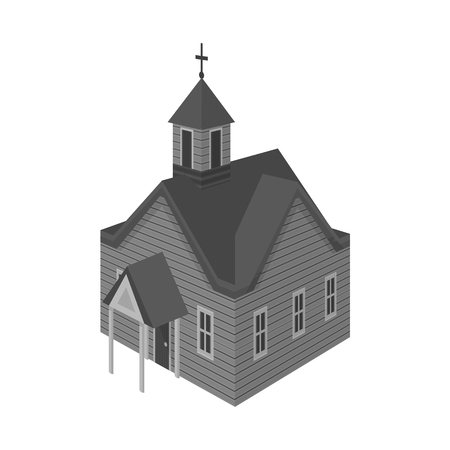 Vector illustration of church and house logo. Collection of church and old stock symbol for web. Archivio Fotografico - 122480210