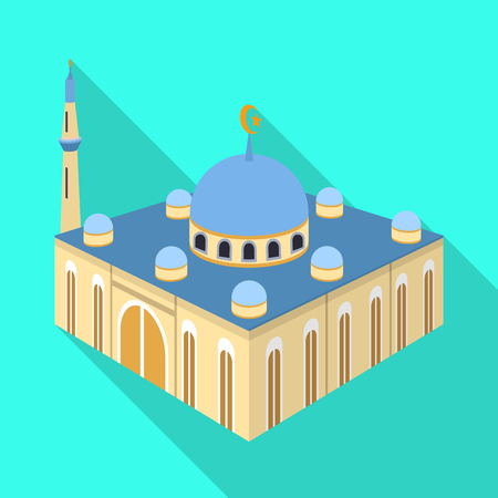 Vector design of mosque and islam icon. Collection of mosque and muslim stock vector illustration. Archivio Fotografico - 122063752